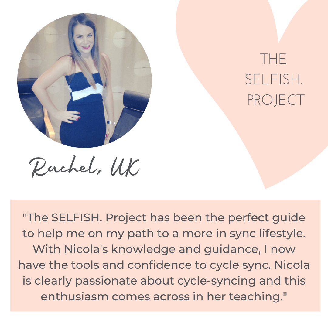 Rachel's The SELFISH Project review and testimonial
